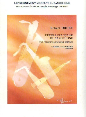 L'école française du saxophone vol. 2 / Druet Robert / Billaudot