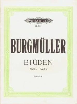 Etudes op. 109 / Burgmüller Johann Friedrich / Peters