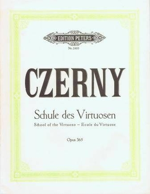 Ecole du Virtuose Op.365 60 études pour pianoSchule Virtuosen Op.36560 Studies for Piano / Czerny Carl / Peters