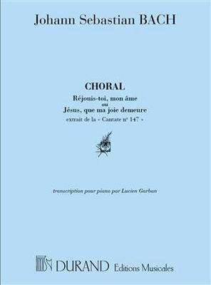 Choral 'Jésus que ma joie demeure' transcription pour piano / Bach Jean Sébastien / Durand
