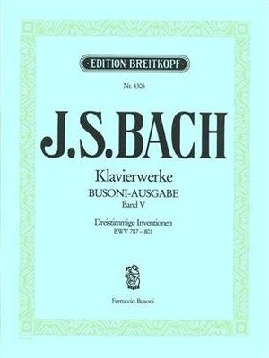 Inventions à 3 voix BWV 787-801Dreistimmige Inventionen / Bach Jean Sébastien / Breitkopf