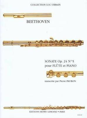 Sonate op. 24 no 5 'Le Printemps' / Beethoven Ludwig van / Henry Lemoine