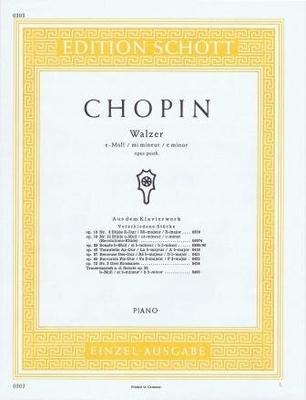 Valse en mi mineur op. posth. / Chopin Frédéric / Schott