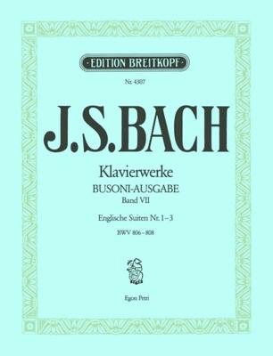 Suites anglaises 1 à 3 BWV 806-808 / Bach Jean Sébastien / Breitkopf