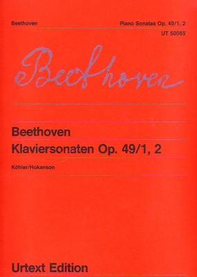Sonates op. 49 no 1 et 2 Sonaten G-Dur und g-Moll op. 49/1 und 2 / Beethoven Ludwig van Karl-Heinz Köhler / Wiener Urtext