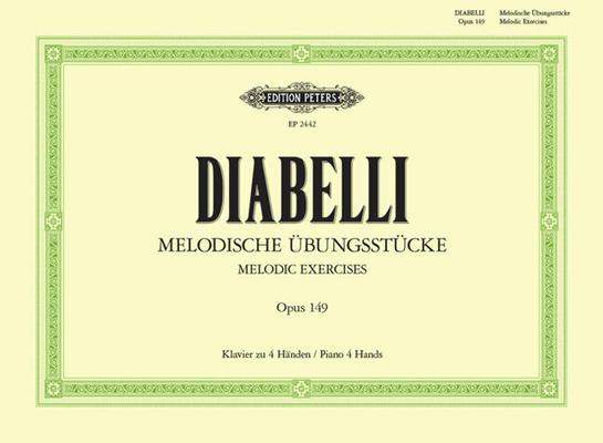 Edition Peters Green Series / Melodische Ubungsstucke Op.149  Anton Diabelli  Piano, 4 Hands Buch  EP2442 / Diabelli Anton / Peters