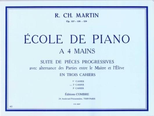 Ecole du piano à 4 mains vol. 2 / Martin R.Ch. / Combre