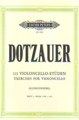 113 études vol. 1 / Dotzauer Justus Johann Friedrich / Peters