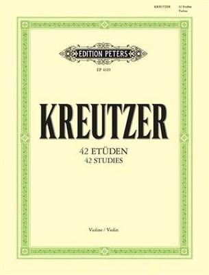 42 études (caprices) / Kreutzer Rodolphe / Peters