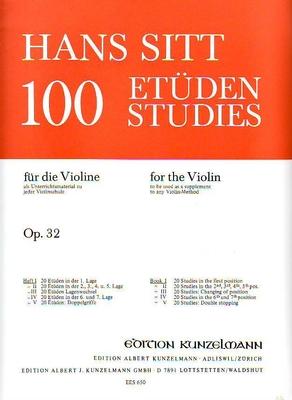 100 études pour violon op. 32 vol. 1 / Sitt Hans / Eulenburg