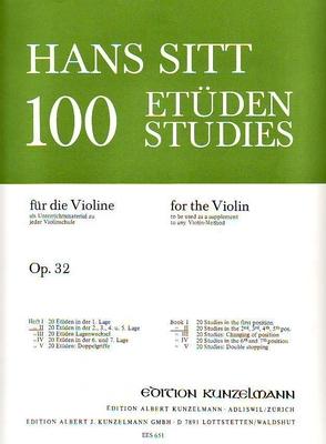 100 études pour violon op. 32 vol. 2 / Sitt Hans / Eulenburg
