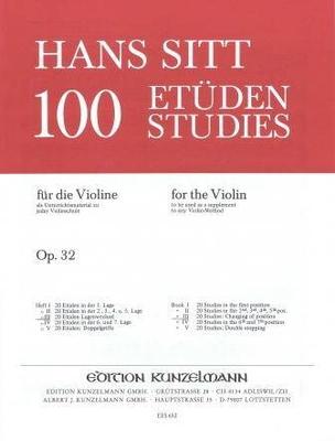 100 études pour violon op. 32 vol. 3 / Sitt Hans / Eulenburg