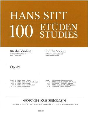100 études pour violon op. 32 vol. 5 / Sitt Hans / Kunzelmann