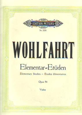Etudes élémentaires op. 54 / Wohlfahrt Franz / Peters