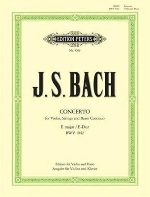 Bach Concerto en mi majeur BWV 1042 / Bach Jean Sébastien / Peters