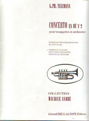 Concerto en ré majeur no 2 / Georg Philip Telemann / Billaudot