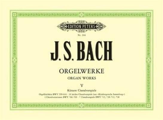 Oeuvre d'orgue vol. 5 / Bach Jean Sébastien / Peters