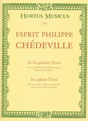 Hortus Musicus (Bärenreiter) / 6 Galante Duos  N. Chedeville   2 Alto Recorders Buch Hortus Musicus (Bärenreiter) / Chédeville Esprit Philippe / Bärenreiter