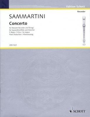 Originalmusik für Blockflöte (OFB) / Concerto en fa majeur / Sammartini Giuseppe / Schott