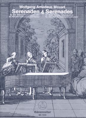 Sérénades no 4 & 5 Serenades 4-5 K439b 3 Instruments / Wolfgang Amadeus Mozart / Bärenreiter