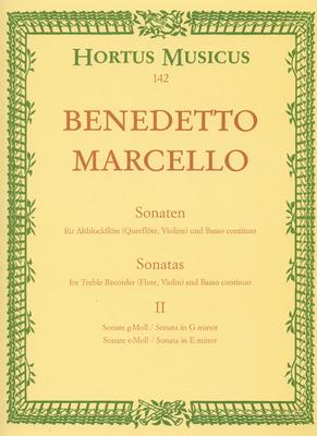 Hortus Musicus (Bärenreiter) / Sonaten 2 G E Op.2  Benedetto Marcello   Recorder and Piano Buch Hortus Musicus (Bärenreiter) / Marcello Benedetto / Bärenreiter