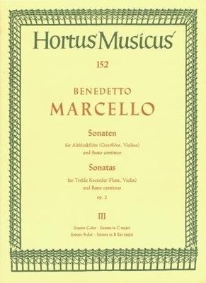 Hortus Musicus (Bärenreiter) / Sonaten 3 C Bes Op.2 / Benedetto Marcello / Bärenreiter