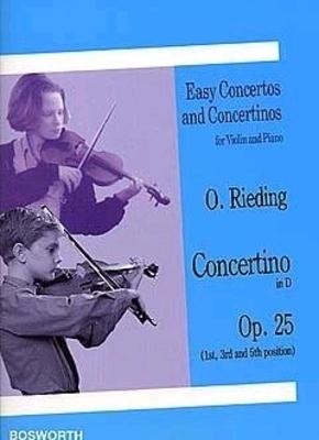 Oskar Rieding: Concertino For Violin And Piano In D Op.25 / Rieding, Oskar (Composer) / Bosworth
