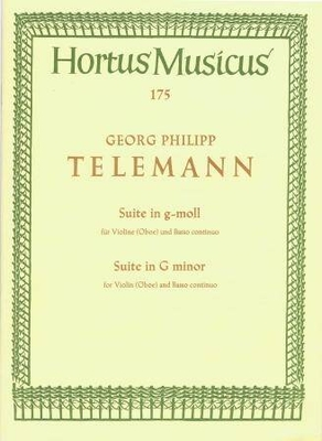 Hortus Musicus / Suite en sol mineur / Telemann Georg Philip / Bärenreiter