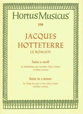 Hortus Musicus / Suite en mi mineur / Hotteterre Jacques / Bärenreiter