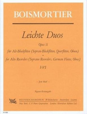 Duos faciles op. 11 / Boismortier Joseph Bodin de / Noetzel