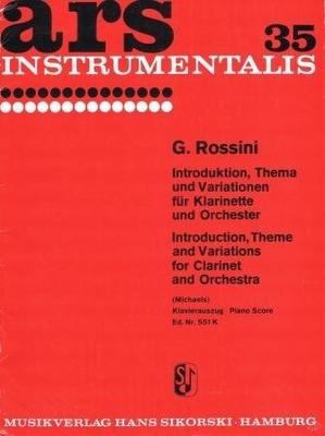 Introduction thème et variations / Rossini Gioacchino / Sikorski