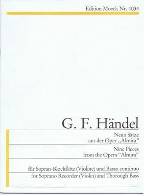9 pièces de 'Almira' / Händel Georg Friedrich / Moeck