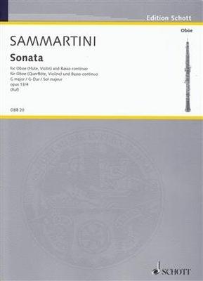 Oboen-Bibliothek / Sonate en sol majeur op. 13 no 4 / Sammartini Giuseppe / Schott