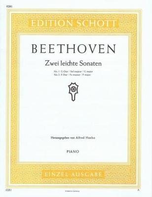 2 leichte Sonaten (sol majeur et fa majeur) / Beethoven Ludwig van / Schott