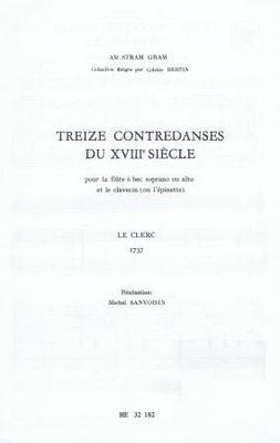 13 contredanses du XVIIIème siècle /  / Heugel