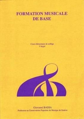 Formation de base 3ème degré / Badia Giovanni / CPM Genève