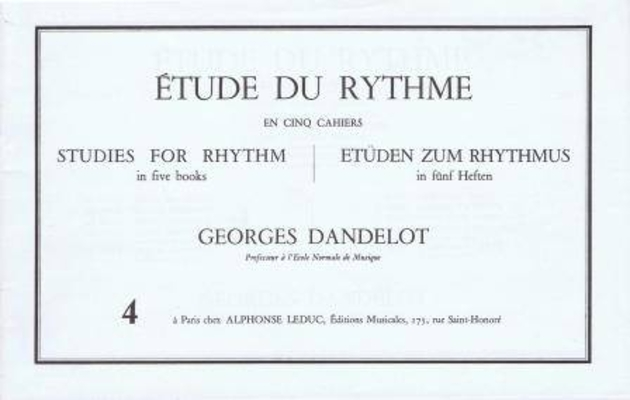 Etude du rythme vol. 4 Mesures simples (complément) / Georges Dandelot / Alphonse Leduc