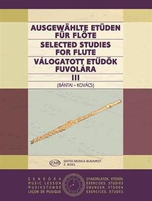 Ausgewählte Etüden für Flöte vol. 3 Vilmos Bntai / Gabor Kovats / Vilmos Bntai / Gabor Kovats / EMB Editions Musica Budapest