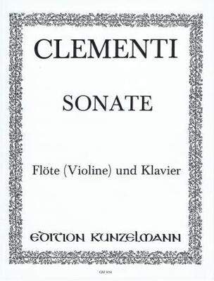 Sonate en sol majeur op. 2 no 3 / Clementi Muzio / Kunzelmann