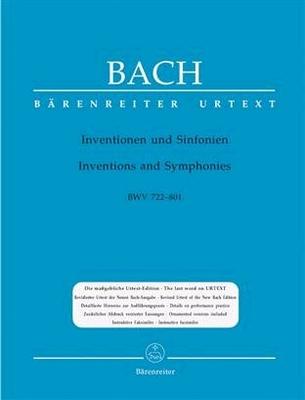 Inventions et sinfonies BWV 772-801 / Bach Jean Sébastien / Bärenreiter