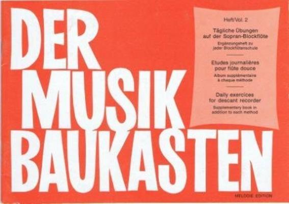 Der Musik Baukasten études journalières vol. 2 / Bodenmann Hans / Melodie