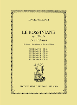 Rossiniana 1 Opus 119 / Mauro Giuliani / Suvini Zerboni