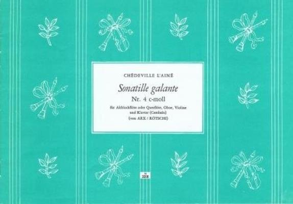 Sonatille galante no 4 en do mineur / Chédeville Esprit Philippe / Noetzel