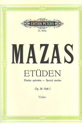 Etudes spéciales op. 36 vol. 1 / Mazas Jacques Féréol / Peters