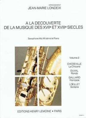 A la découverte de la musique des 17è et 18è s., vol. 2 /  / Henry Lemoine