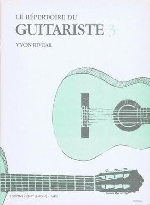 Le répertoire du guitariste vol. 3 /  / Henry Lemoine
