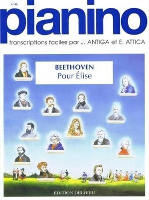 Pianino / Pour Elise (Pianino no 46) / Beethoven Ludwig van / Delrieu