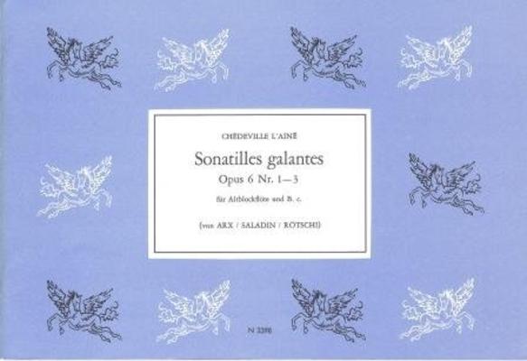 Sonatilles galantes op. 6 nos 1-3 / Chédeville Esprit Philippe / Noetzel