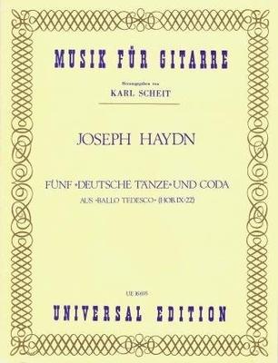 5 danses allemandes et coda Hob.IX:22 / Haydn Joseph / Universal Edition
