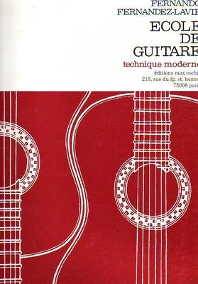 Ecole de guitare, technique moderne / Fernandez-Lavie F. / Eschig